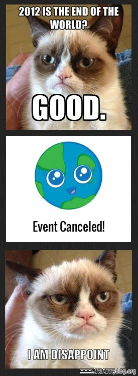 2012 is the end 2012 is the end of the world? cat meme cat planet cat planet