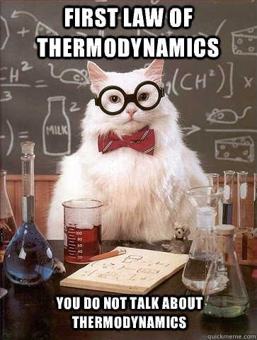 Image result for the law of thermodynamics meme