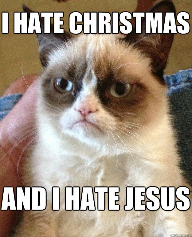 Christmas Memes Cats.I Hate Christmas Cat Meme Cat Planet Cat Planet