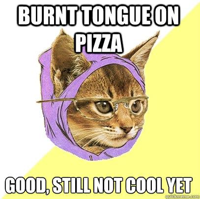 BURNT TONGUE on pizza good burnt tongue on pizza cat meme cat planet cat planet,Pizza Cat Meme