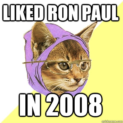 Liked Ron Paul in 2008 liked ron paul in 2008 cat meme cat planet cat planet