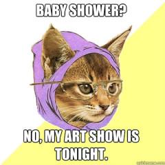 baby shower cat meme