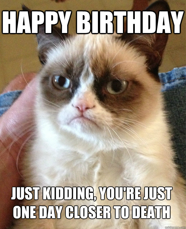 Happy birthday just kidding funny meme archives page 121 of 982 cat planet cat planet