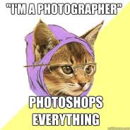 I'M A Photographer Photoshops Cat Meme