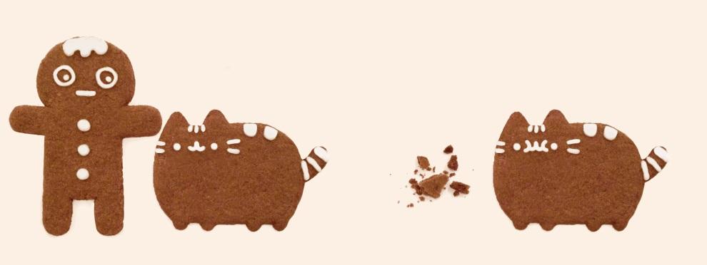 Cat Gingerbread Man Meme