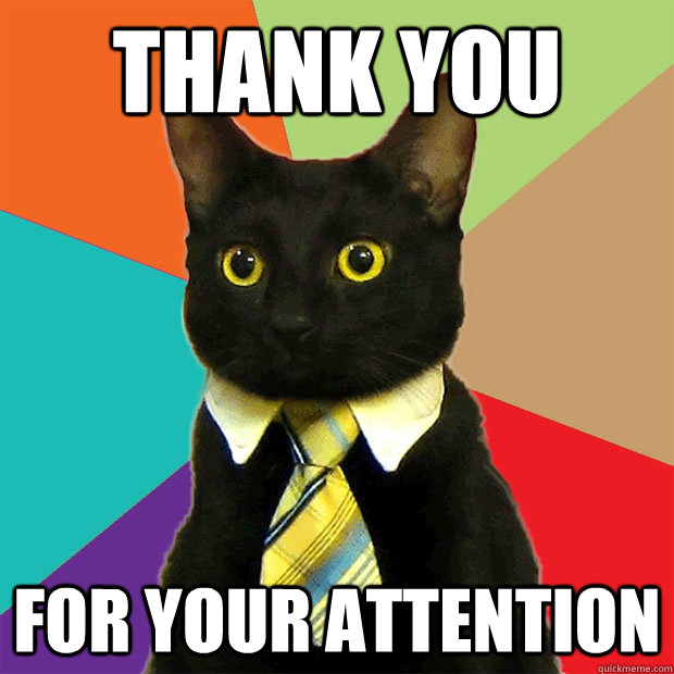 Thank You For Your Attention Cat Meme - Cat Planet | Cat Planet