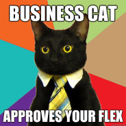Business Cat Approves Your Flex Cat Meme