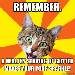Remember. A Healthy Serving Of Glitter Cat Meme