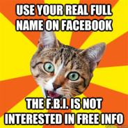 Use Your Real Full Name On Facebook Cat Meme